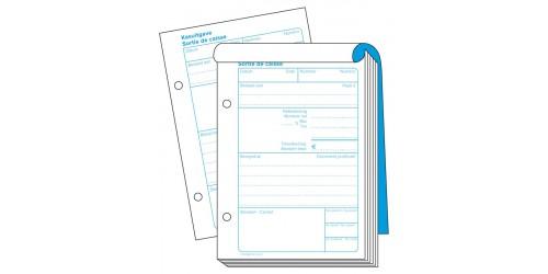 Blok kasbewijs voor uitgave