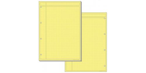 Schrijfblok A4 geel, geruit 5x5mm