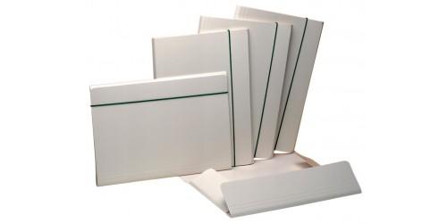 Klepmap jumbo met elastiek wit