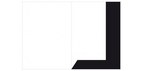 Presentatiemap A4 zwart glanskart.