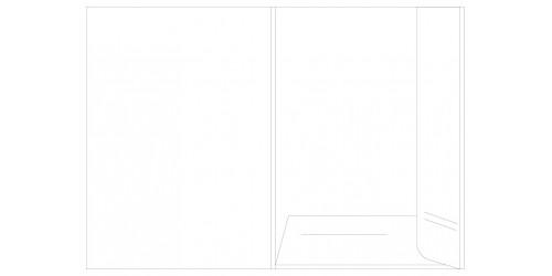 Presentatiemap A4 wit cap. 5 mm.