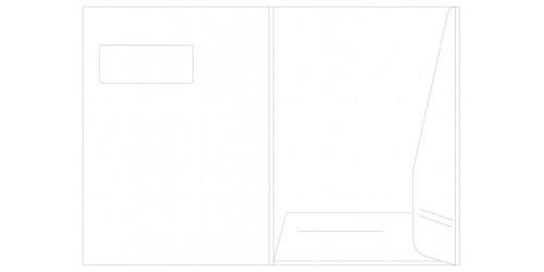 Presentatiemap A4 wit met venster