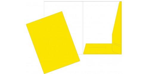 Presentatiemap A4 geel cap. 5 mm