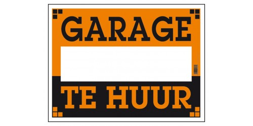 Pancarte Garage te huur 270x360mm