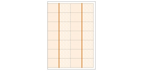 Blanco bonnen (14) oranje op A4vel