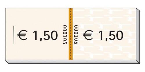 Blok Consumptiebon 1,50eur,genum.