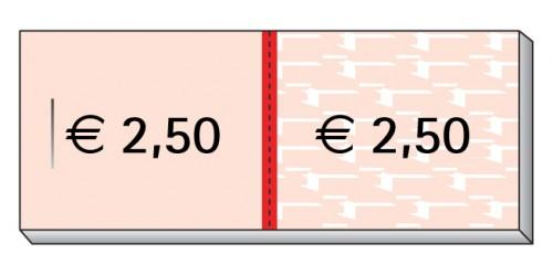 Blok Consumptiebon 2,50eur,genumm.