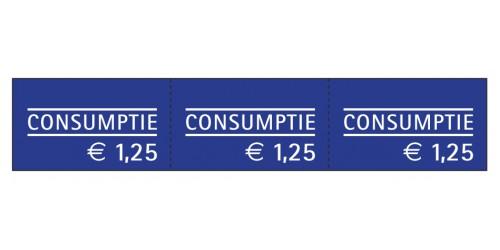 Consumptiebon 1,25eur,ketting,blau
