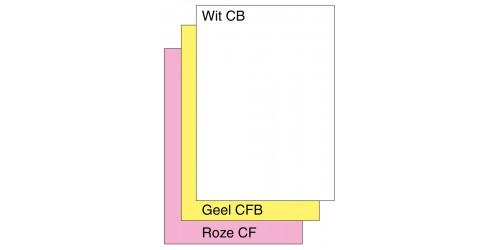 Digital Zelfk. papier 3 ex  copy/laser wit/geel/roze