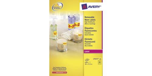 Avery eti. 21,2x38,1 geel L7651Y
