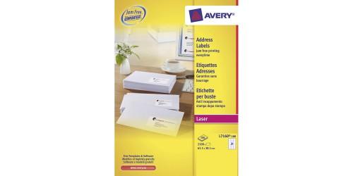 Avery etiket 38,1 x 63,5 (L7160)