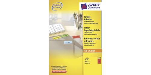 Avery Laser+Copy 37x70 rood 3448