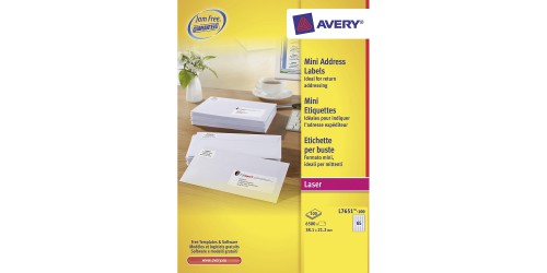 Avery etiket 21,2 x 38,1 (L7651H)