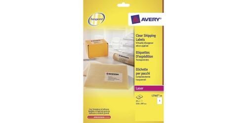 Avery eti. Transp 297x210 L7567-25