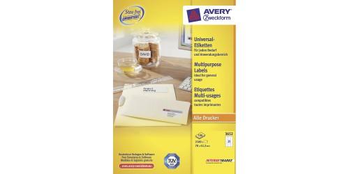 Avery Zweckform 3652 ft. 42,3x70