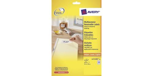 Avery etiket 4731 Stick + Lift