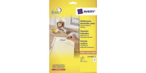 Avery etiket 4743 Stick + Lift