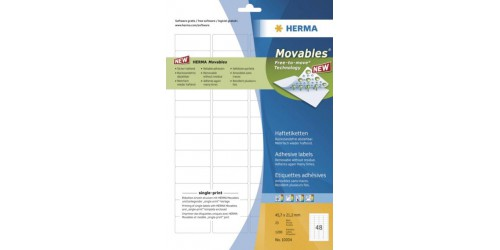 Herma etiket movables 21,2x45,7mm