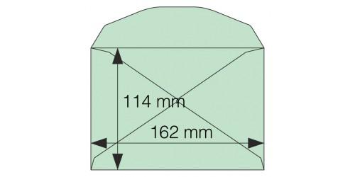 Envelop C 6, gegomd, groen