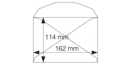 Envelop C 6, gegomd, wit