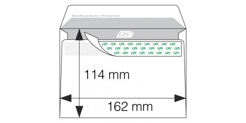 Envelop C 6, zelfkl., wit, Strip