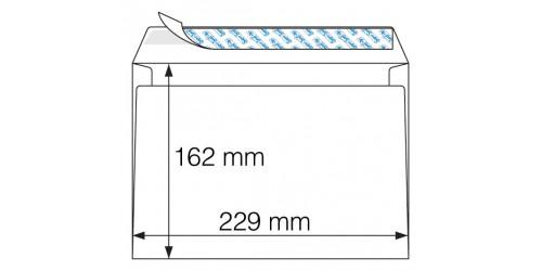 Envelop C5 ft 162x229 mm wit Strip