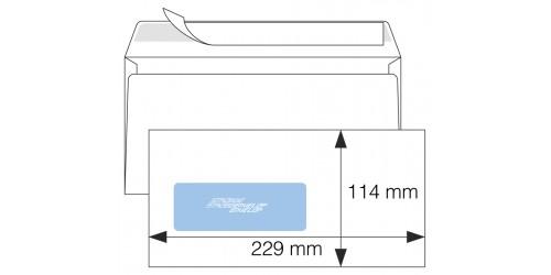Vensterenvelop L,C6/5,wit,strip