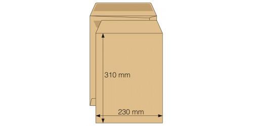 Akte-envelop 230x310 bruin zelfkl