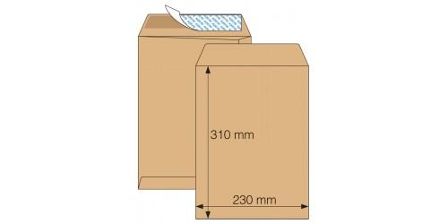 Akte-envelop 230x310 bruin strip