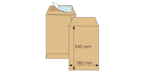 Akte-envelop 160 x 240, Strip