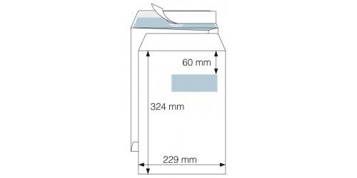 Akte-envelop 229x324 wit, strip+v