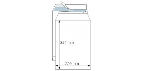 Akte-envelop 229x324 wit, strip