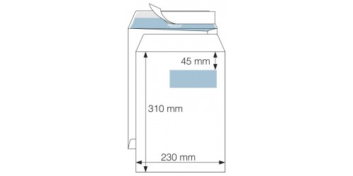 Akte-envelop 230x310 wit strip VR