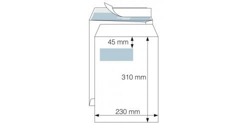 Akte-envelop 230x310 wit strip VL