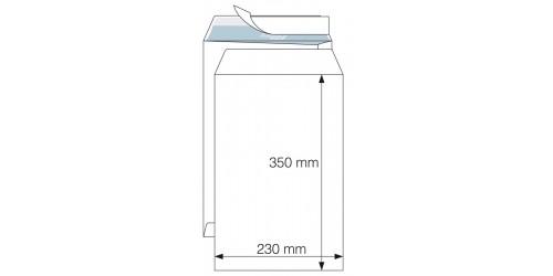 Akte-envelop 230x350 wit strip