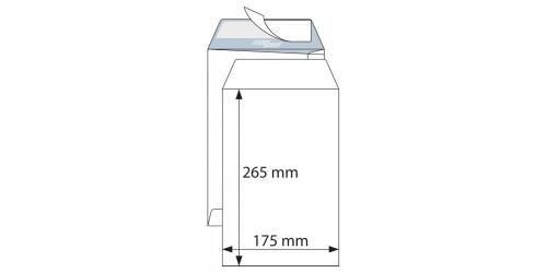 Akte-envelop 175x265 wit strip