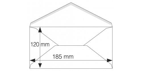 Briefkaartenvelop wit 114 x 229 mm