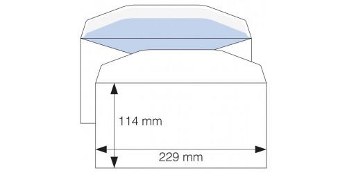Envelop C 6/5, gegomd, wit