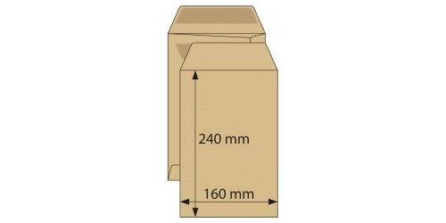 Akte-envelop 160x240, zelfkl.bruin