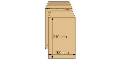Akte-envelop 175x265,zelfkl. bruin