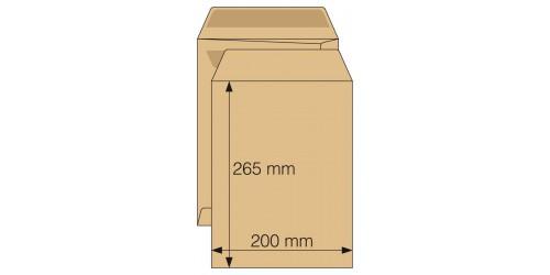 Akte-envelop 200x265, zelfkl.bruin