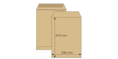 Zakenvelop 230x310mm bruin zelfkl