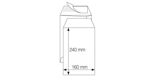 Akte-envelop 160x240mm, picto, wit