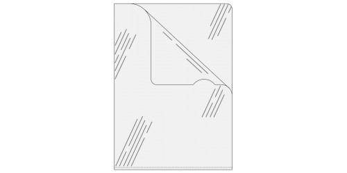 Zichtmap kleurl. A4-Gestr.ds 54832