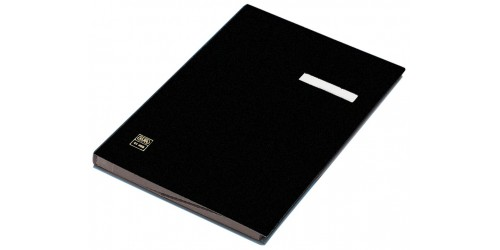Vloeiboek 20 vaks 24201-04 zwart