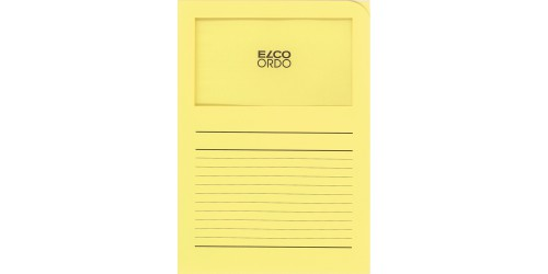 Dossiermap Elco pastelgeel bedrukt