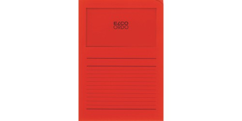 Dossiermap Elco int. rood bedrukt