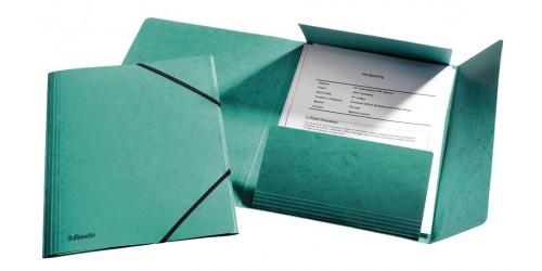 Klepmap glanskarton A4 groen + ela