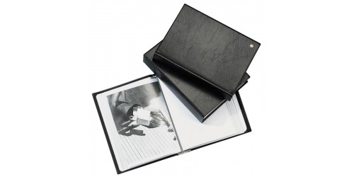 Showalbum 50 tassen zwart A4