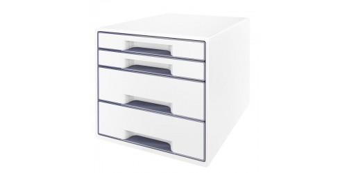 Wow desk cube 4 laden wit/grijs